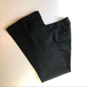 J. Crew City Fit Cuffed Black Wool Trousers sz 8
